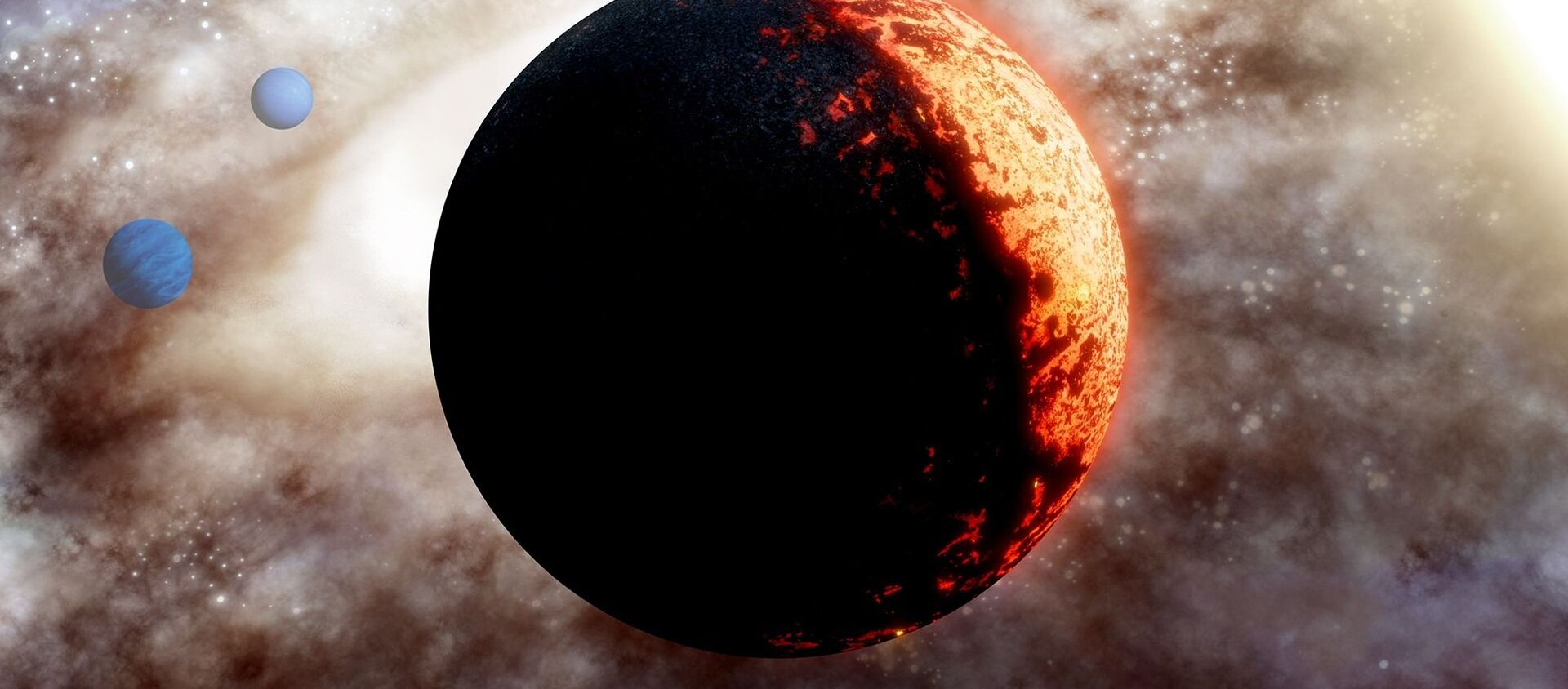Immagine artistica di un pianeta extrasolare TOI-561b - Sputnik Italia, 1920, 13.01.2021