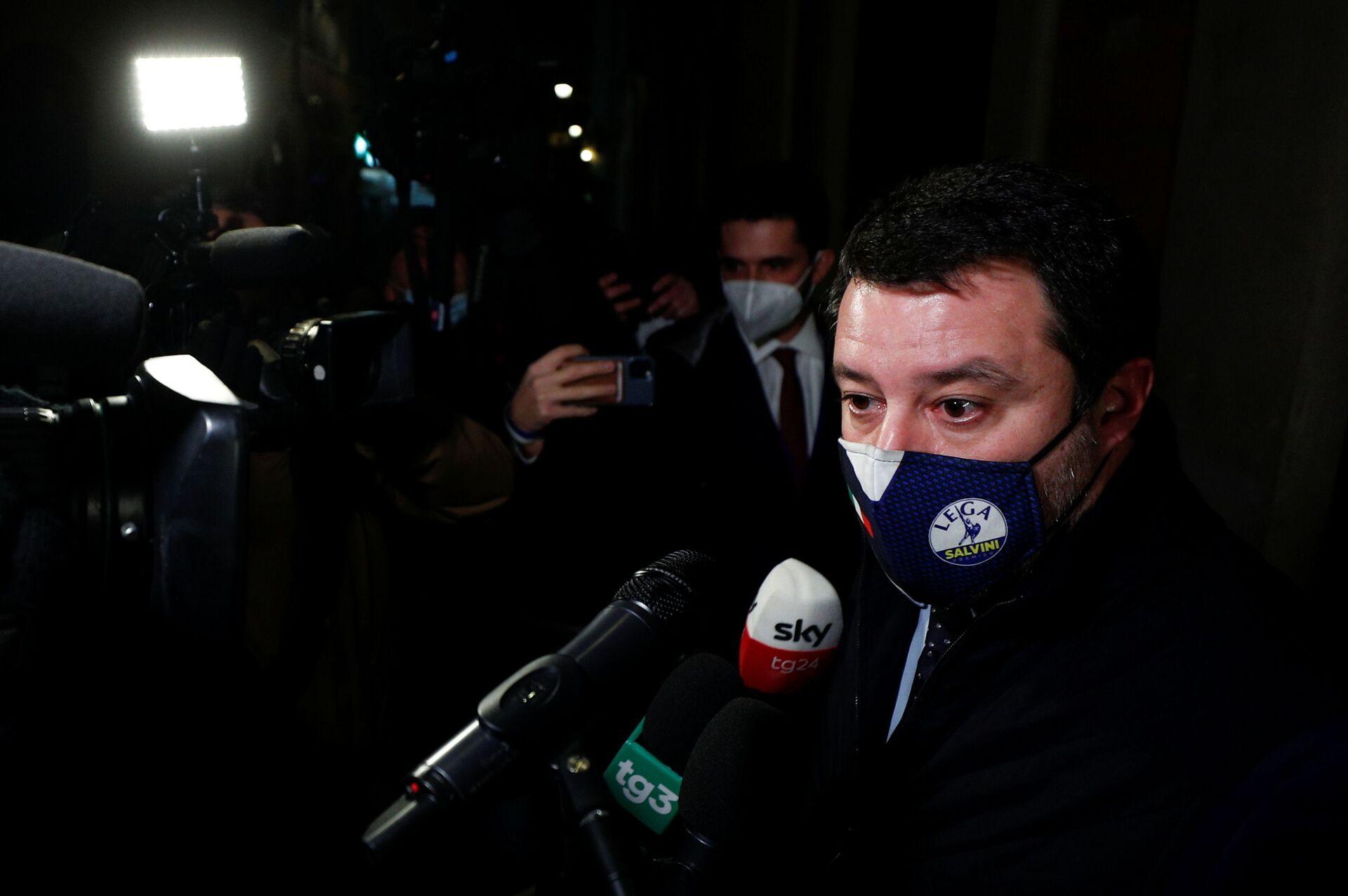 Salvini apre al governo Draghi: Il bene del Paese supera l'interesse personale - Sputnik Italia, 1920, 06.02.2021