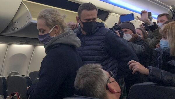 Alexey Navalny nell'aeroporto Sheremetyevo - Sputnik Italia