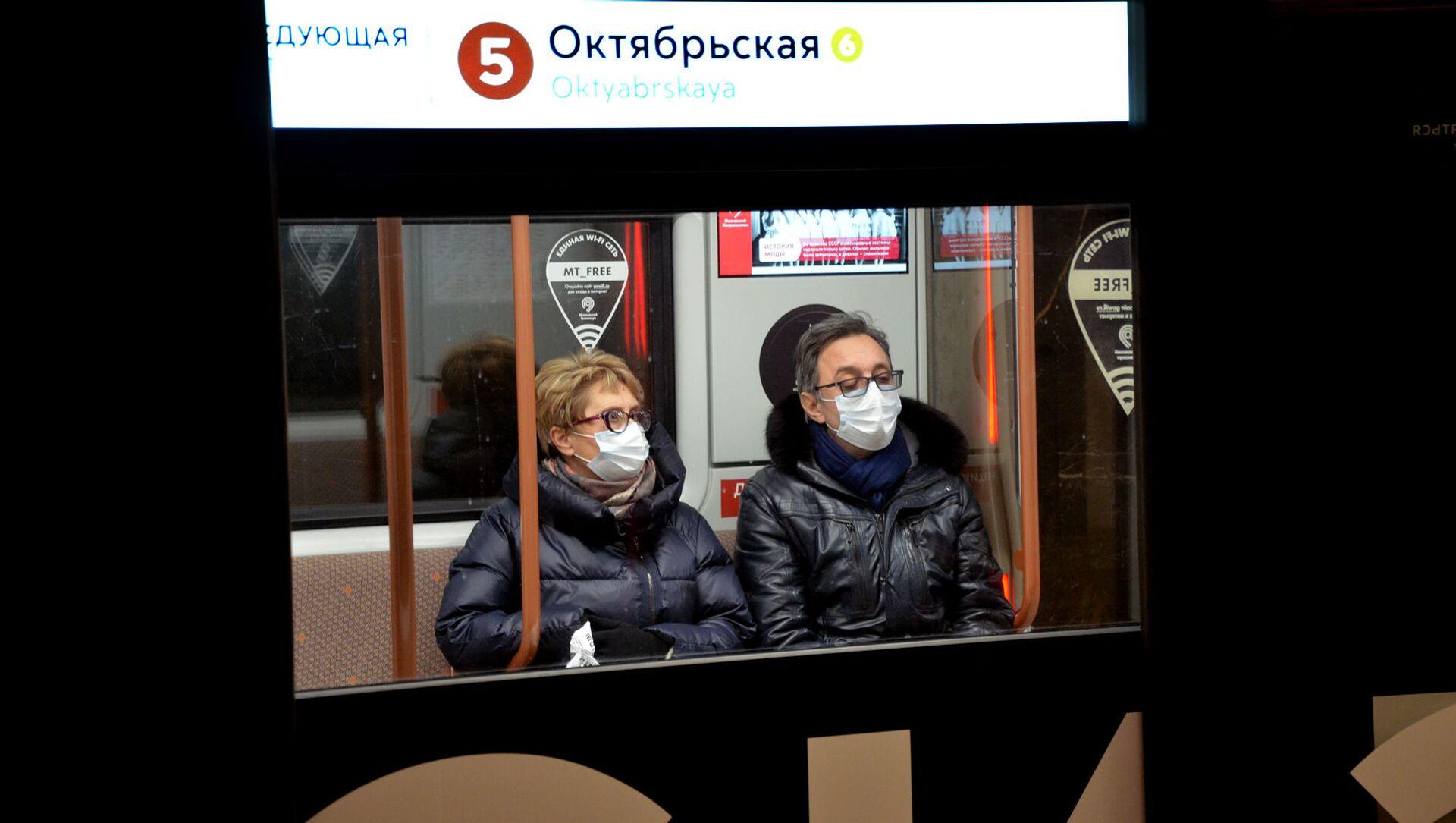Coronavirus in Russia - Metropolitana di Mosca, gennaio 2021 - Sputnik Italia, 1920, 07.02.2021