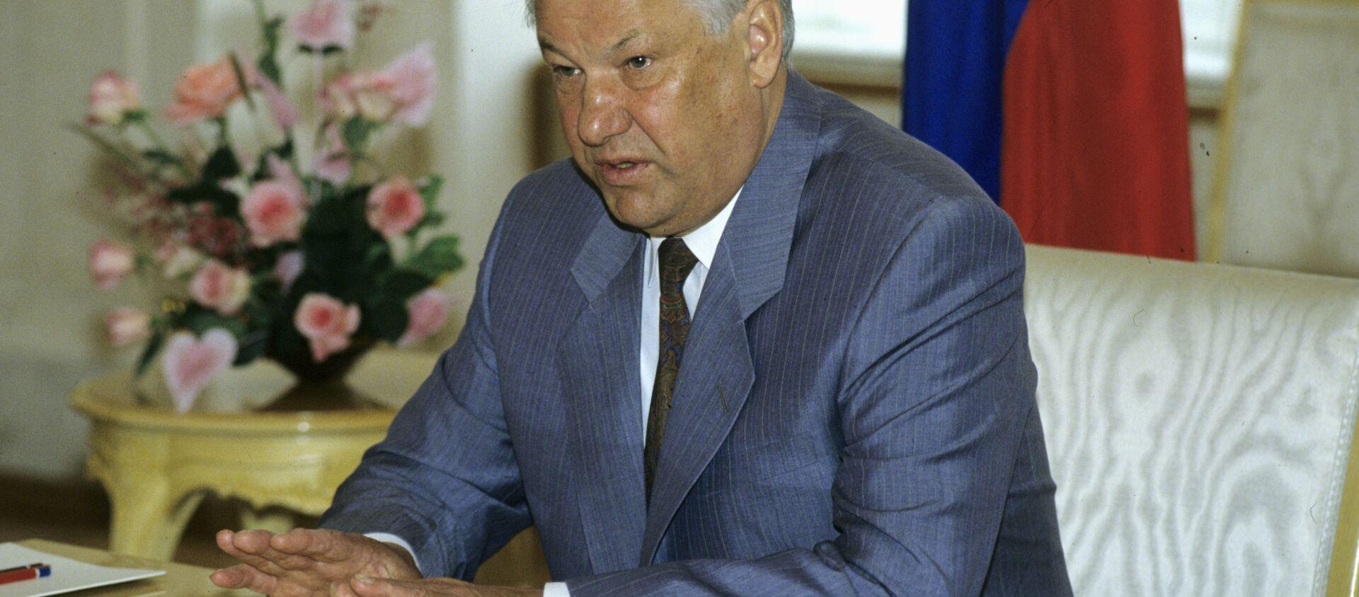 Boris Eltsin, il primo presidente della Federazione Russa. - Sputnik Italia, 1920, 01.02.2021