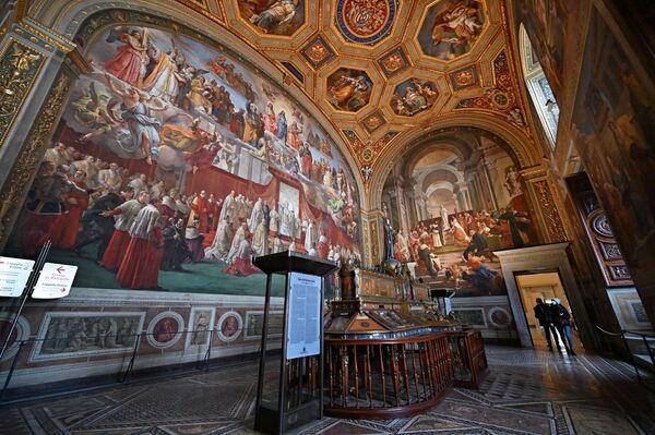 Il museo ricorda che le visite straordinarie dell'ultima domenica del mese restano sospese e che l'ingresso al museo è su prenotazione obbligatoria. - Sputnik Italia