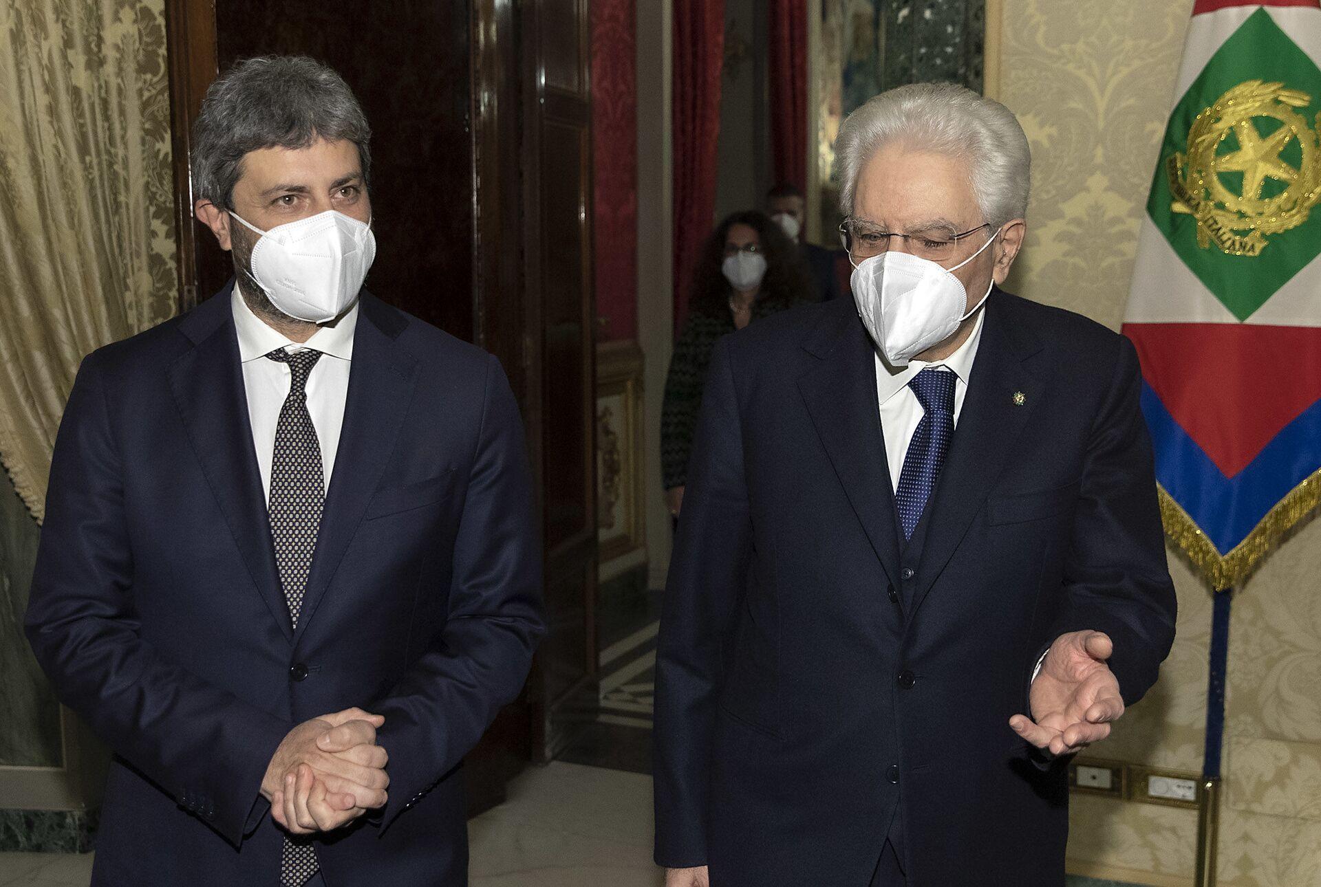 Mattarella: Appello per la fiducia a un esecutivo istituzionale. Domani Draghi al Quirinale - Sputnik Italia, 1920, 02.02.2021