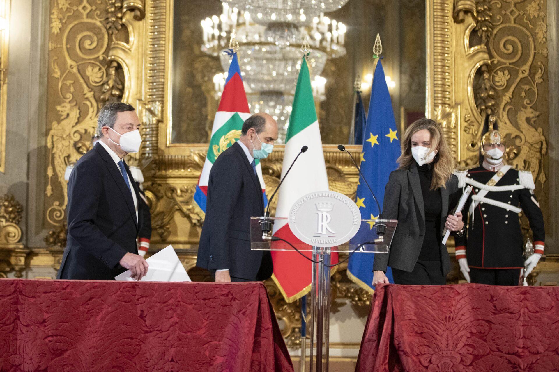 Governo Draghi, Salvini auspica concretezza: Lasciamo stare le ideologie - Sputnik Italia, 1920, 12.02.2021