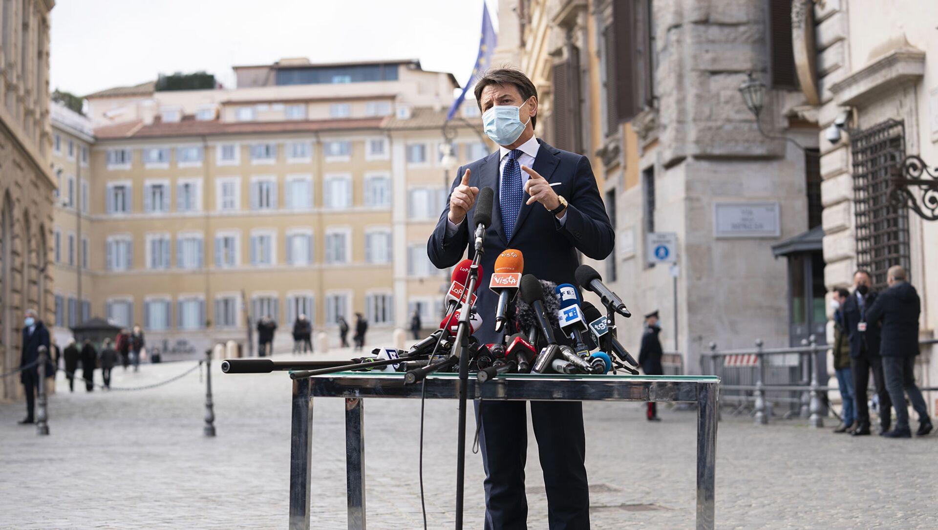 L'ultimo discorso del premier Conte - Sputnik Italia, 1920, 04.02.2021