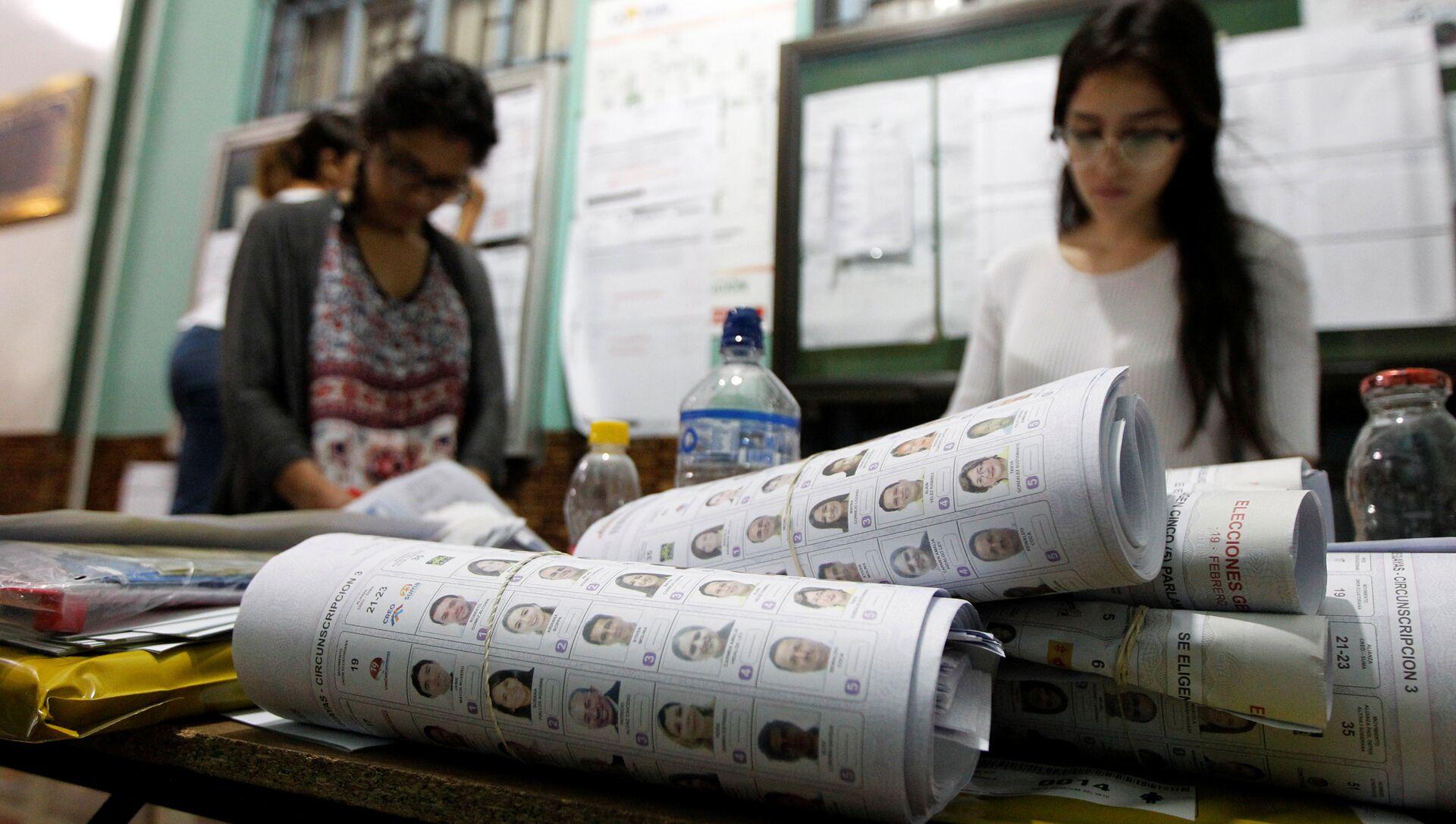 Elezioni in Ecuador, immagini di repertorio - Sputnik Italia, 1920, 07.02.2021
