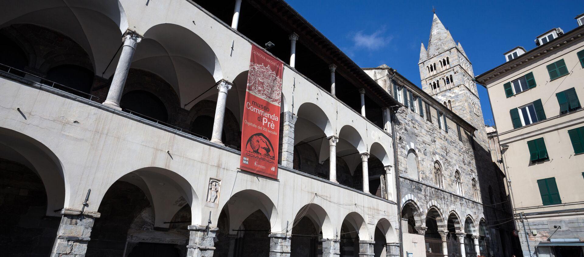 Edificio La Commenda di Pre a Genova che ospiterà il futuro museo dell'emigrazione italiana - Sputnik Italia, 1920, 08.02.2021