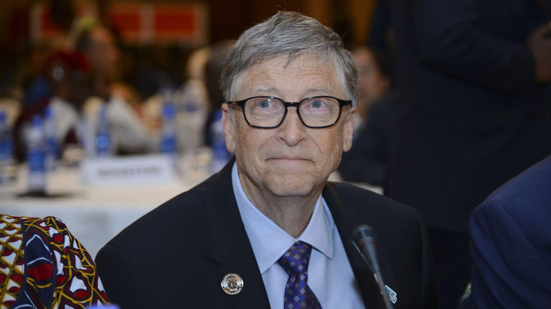 Bill Gates, presidente della 'Bill & Melinda Gates Foundation', partecipa all'Africa Leadership Meeting - Investing in Health Outcomes tenutosi in un hotel di Addis Abeba, in Etiopia, 9 febbraio 2019.  - Sputnik Italia, 1920, 26.02.2021