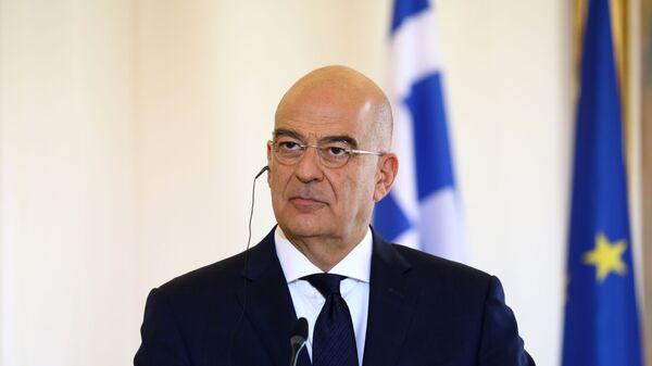 Il ministro degli Esteri greco Nikos Dendias - Sputnik Italia