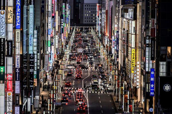 Vista del quartiere di Ginza a Tokyo - Sputnik Italia
