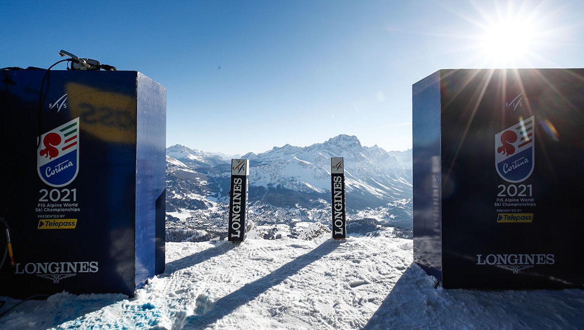 Il cancelletto di partenza dei Mondiali di Sci Alpino Cortina 2021 - Sputnik Italia, 1920, 15.02.2021