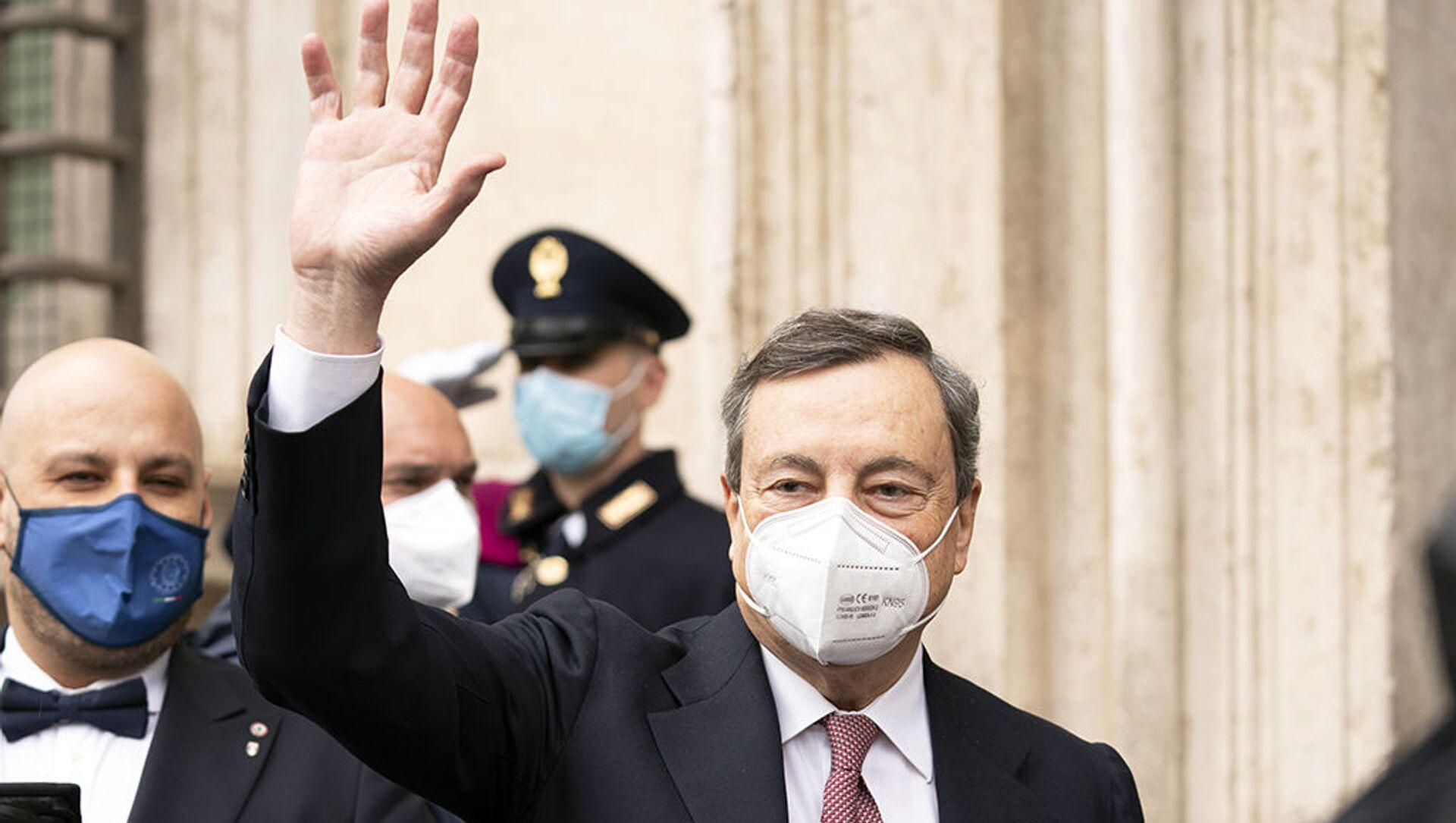 Mario Draghi prima del giuramento - Sputnik Italia, 1920, 15.02.2021