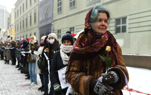 A Mosca piccola manifestazione a sostegno moglie di Navalny partita in Germania - Sputnik Italia