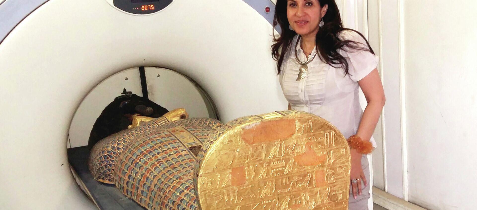 Tomografia computerizzata della mummia Seqenenre Tao  - Sputnik Italia, 1920, 18.02.2021