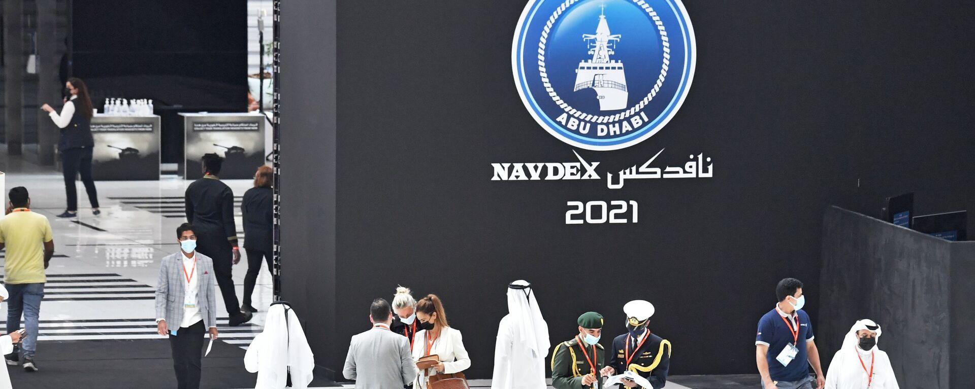 Посетители выставки оборонной промышленности IDEX-2021 в Абу-Даби - Sputnik Italia, 1920, 23.02.2021