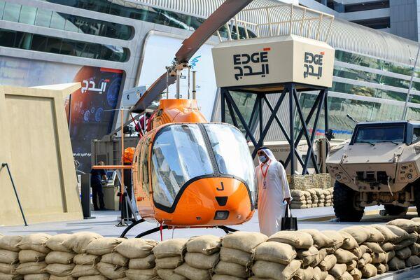 Elicottero alla fiera dell'industria della difesa IDEX-2021 ad Abu Dhabi - Sputnik Italia