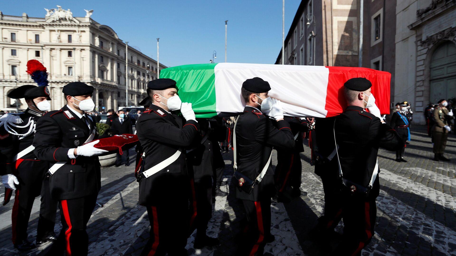Funerali dell'ambasciatore italiano Luca Attanasio a Roma - Sputnik Italia, 1920, 16.07.2021