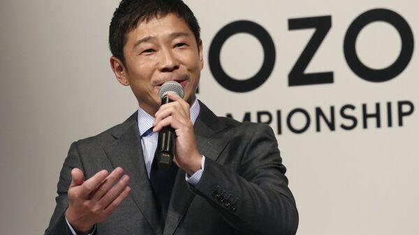 Il multimiliardario giapponese Yusaku Maezawa - Sputnik Italia