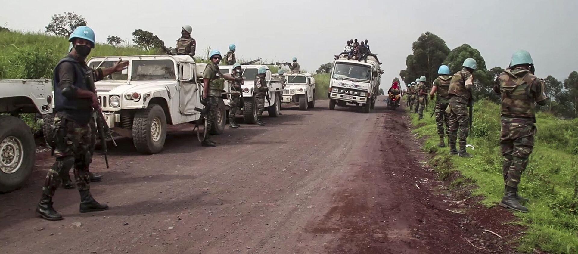 Le forze di pace dell'Onu sul luogo dell'assassinio dell'ambasciatore italiano in Congo Luca Attanasio - Sputnik Italia, 1920, 05.03.2021