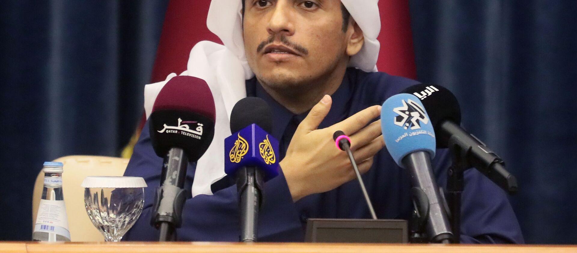 Il ministro degli Esteri del Qatar Mohammed bin Abdulrahman bin Jassim Al Thani - Sputnik Italia, 1920, 07.03.2021