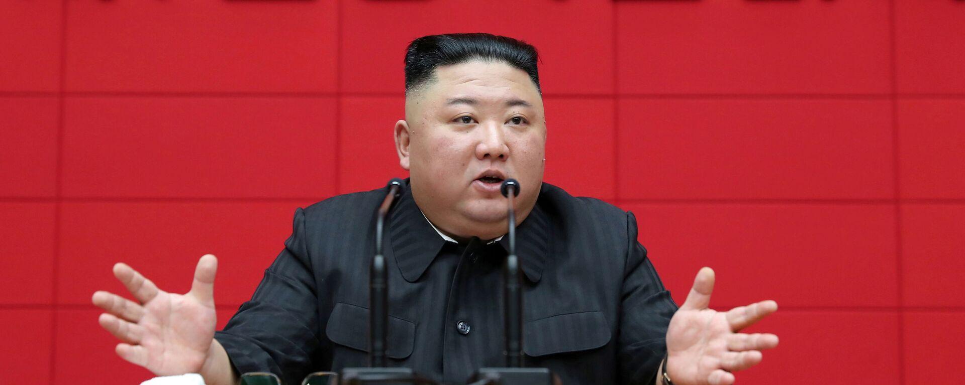 Il leader nordcorenano Kim Jong Un  - Sputnik Italia, 1920, 14.03.2021