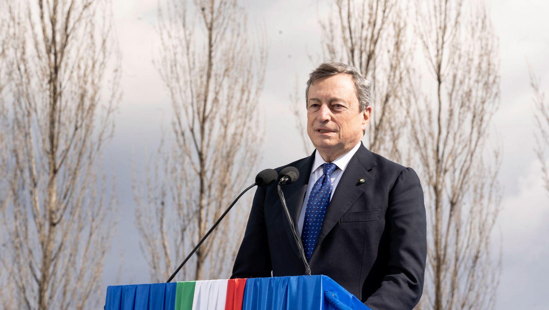 Il Presidente Draghi alla cerimonia d'inaugurazione del Bosco della Memoria - Sputnik Italia, 1920, 29.03.2021