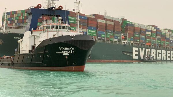 La nave cargo Ever Given bloccata nel Canale di Suez - Sputnik Italia