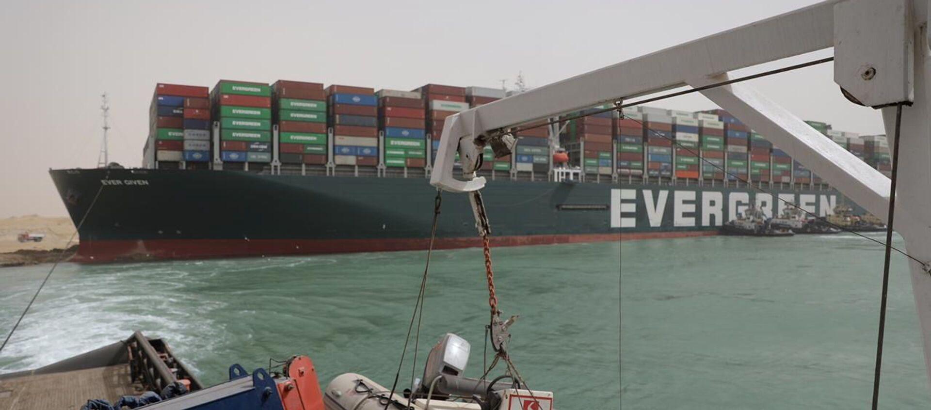 La nave cargo Ever Given arenata sul Canale di Suez - Sputnik Italia, 1920, 25.03.2021
