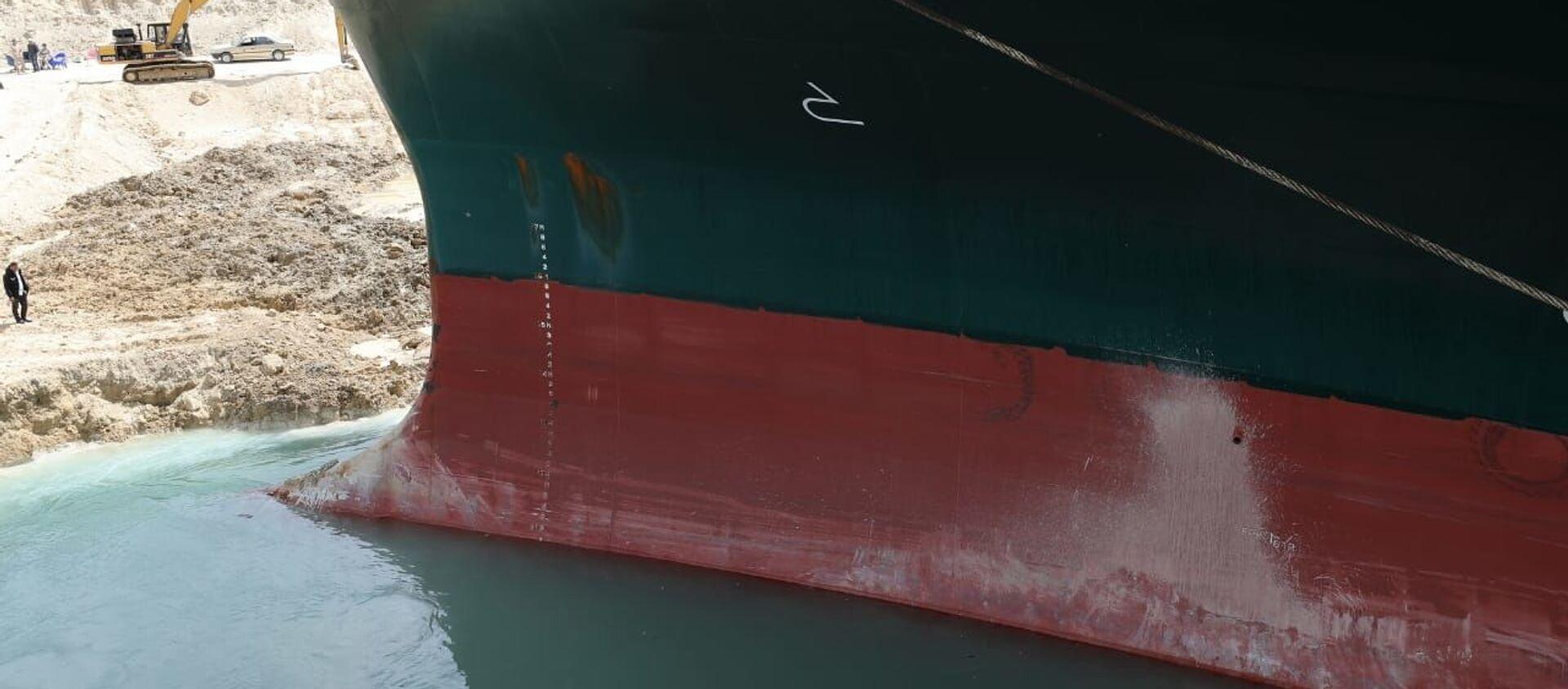 La nave Ever Given nel canale di Suez - Sputnik Italia, 1920, 14.04.2021