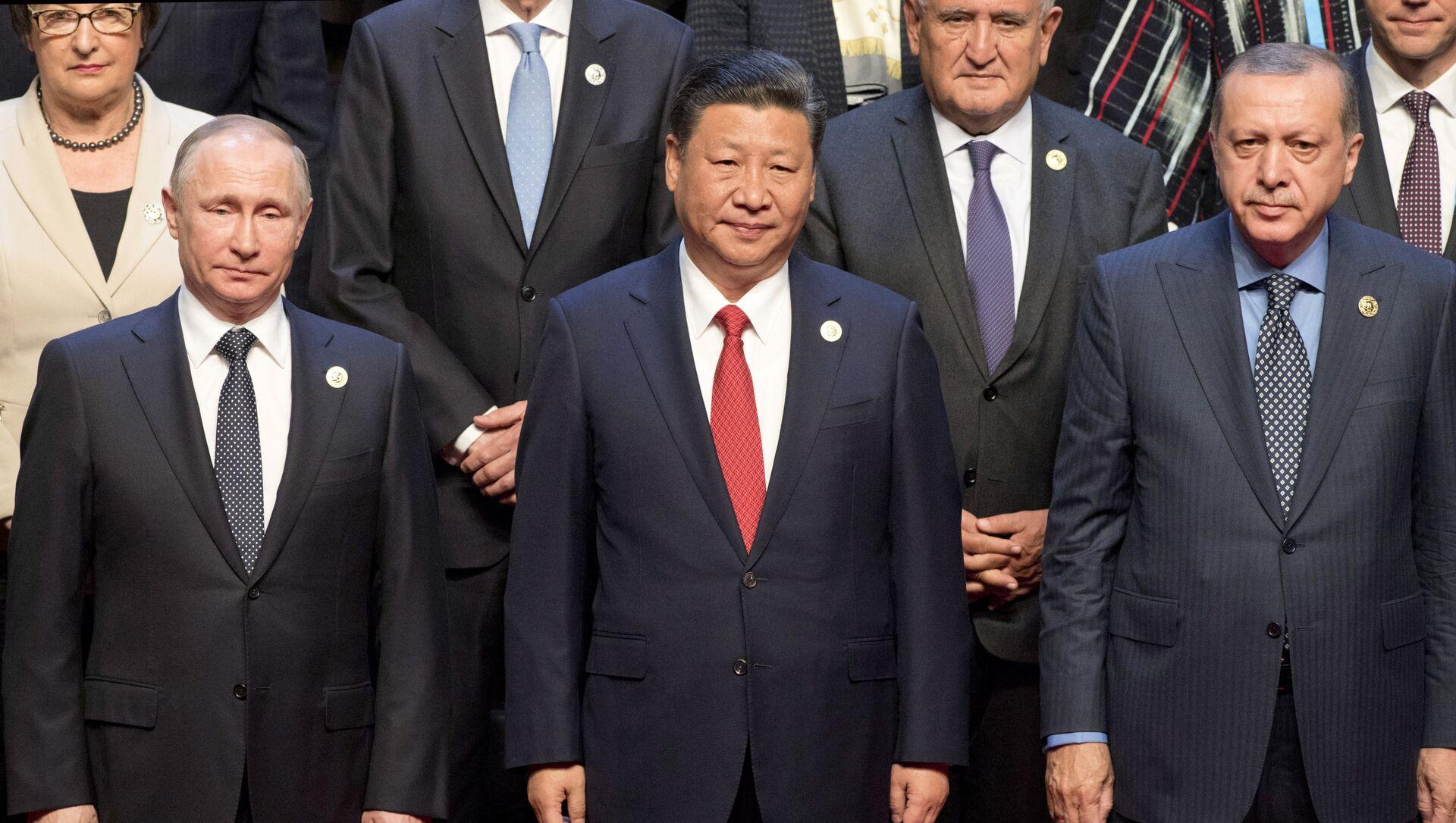 Putin, Xi Jinping, Erdogan - Sputnik Italia, 1920, 28.03.2021