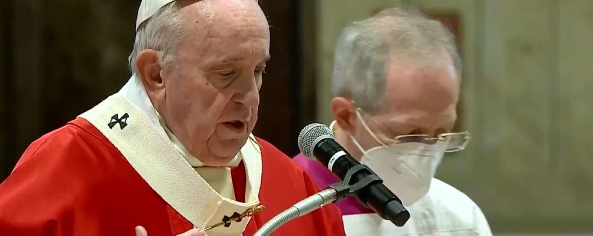 Papa Francesco celebra Domenica delle Palme tra pochi invitati - Sputnik Italia, 1920, 04.07.2021