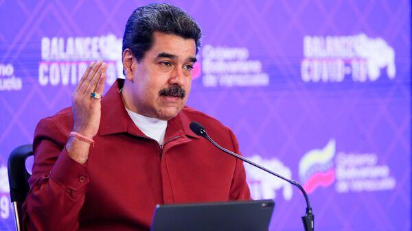 Venezuela's President Nicolas Maduro gives a speech in Caracas, Venezuela March 3, 2021. - Sputnik Italia