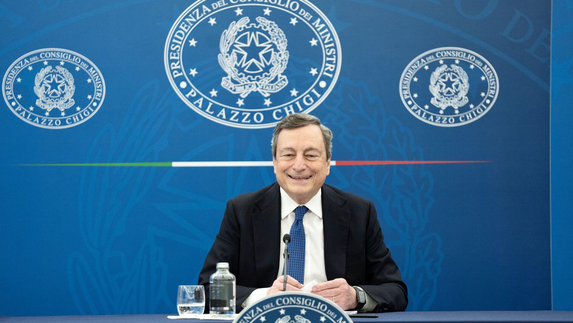 Il premier Mario Draghi - Sputnik Italia, 1920, 25.04.2021