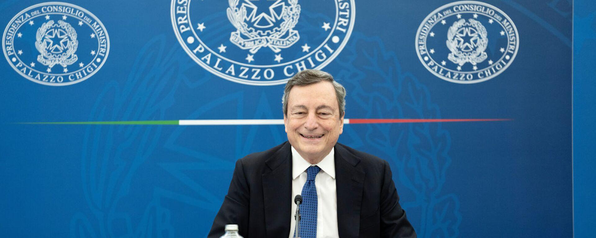 Il premier Mario Draghi - Sputnik Italia, 1920, 24.04.2021