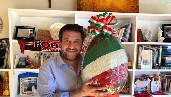Matteo Salvini il giorno prima della Pasqua, 2021 - Sputnik Italia
