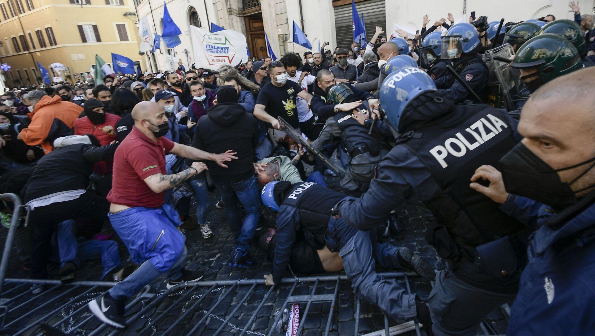 Manifestazioni a Roma, il 6 aprile del 2021 - Sputnik Italia, 1920, 06.04.2021