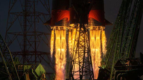 Lancio del razzo Soyuz-2.1 A con la nave spaziale Soyuz MS-18 dal cosmodromo di Baikonur - Sputnik Italia