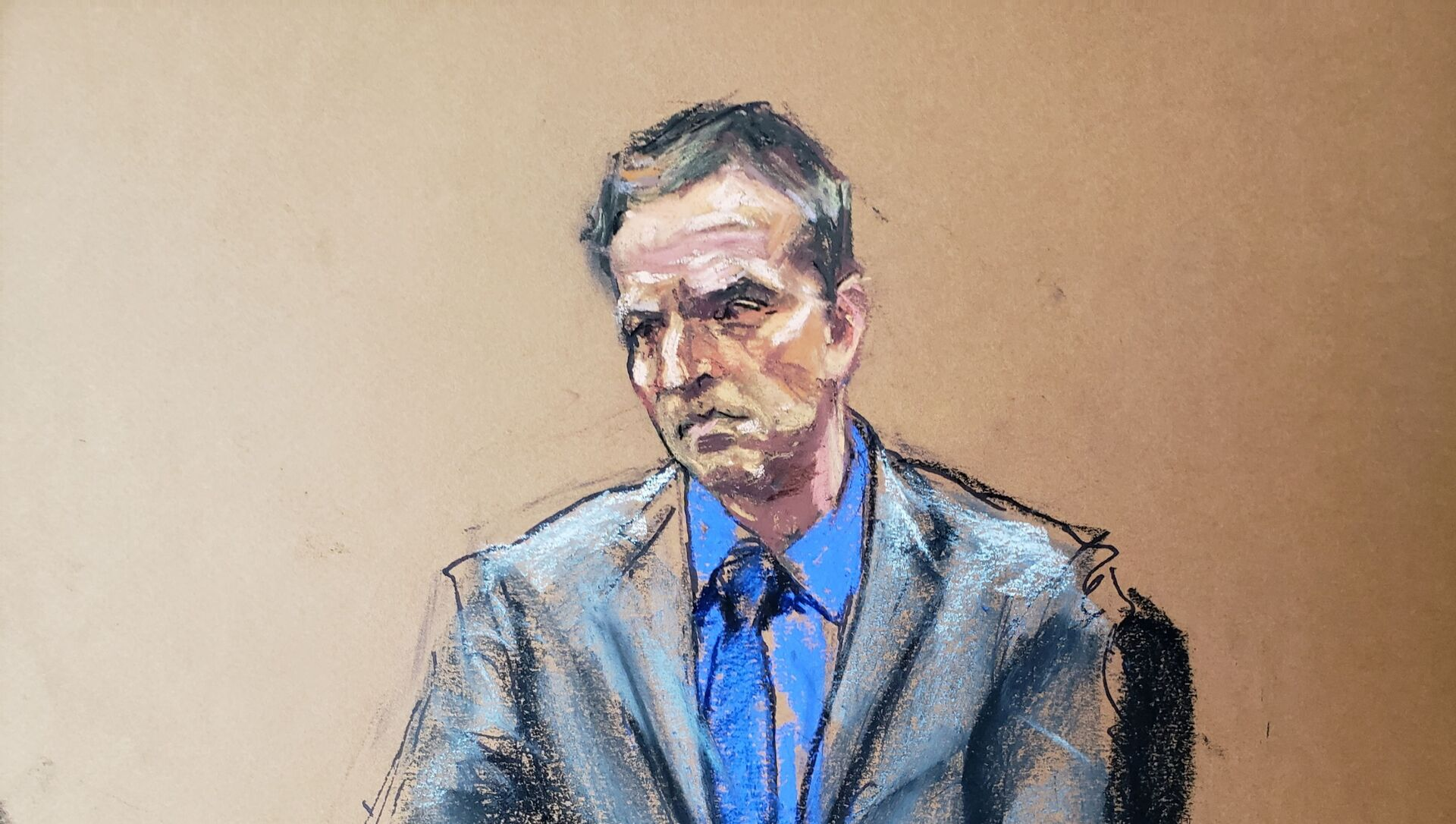 Former Minneapolis police officer Derek Chauvin listens as defence attorney Eric Nelson makes closing arguments during the trial of Chauvin for second-degree murder, third-degree murder and second-degree manslaughter in the death of George Floyd in Minneapolis, Minnesota, U.S. April 19, 2021 in this courtroom sketch.  - Sputnik Italia, 1920, 20.04.2021