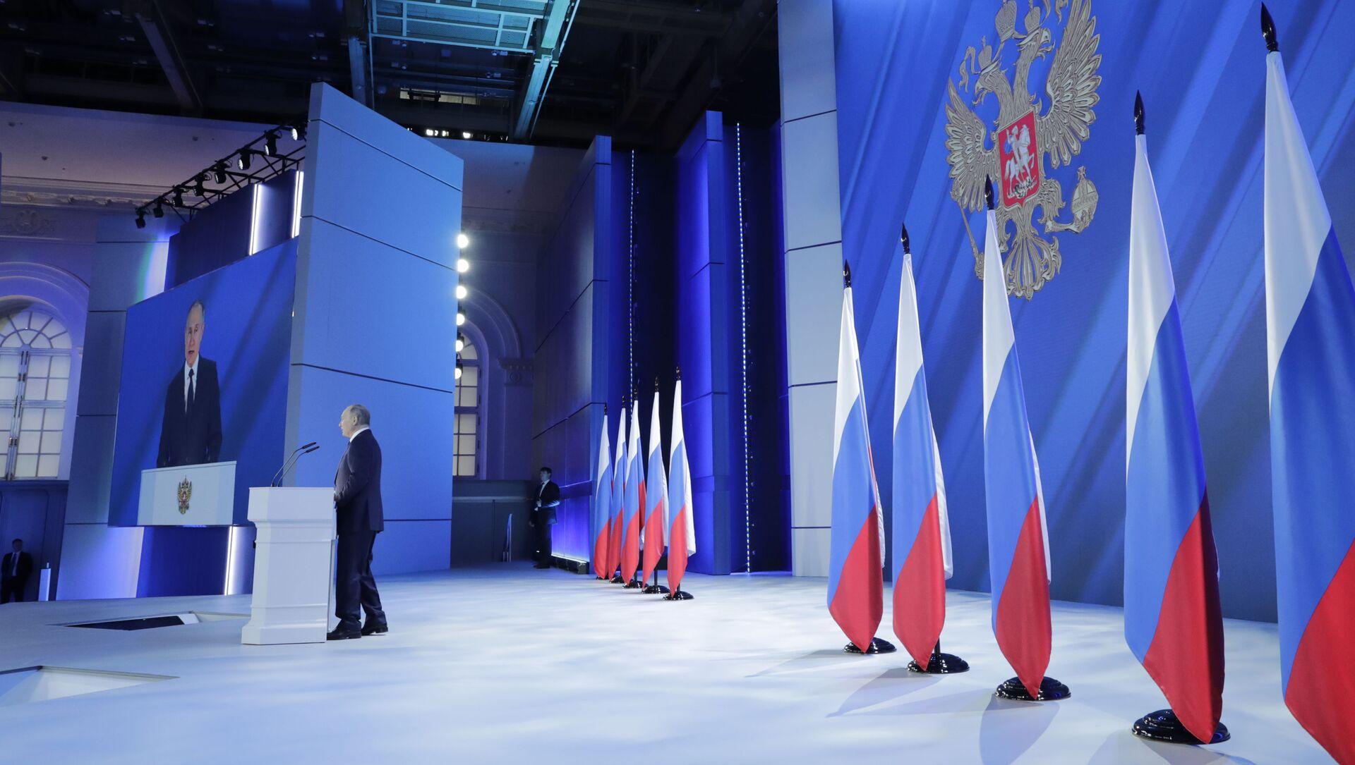 Il discorso di Vladimir Putin all'Assemblea federale - Sputnik Italia, 1920, 23.04.2021