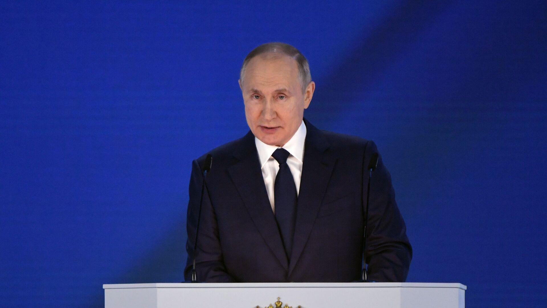 Il discorso di Vladimir Putin all'Assemblea federale - Sputnik Italia, 1920, 21.04.2021