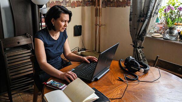 Donna in smart working - Sputnik Italia