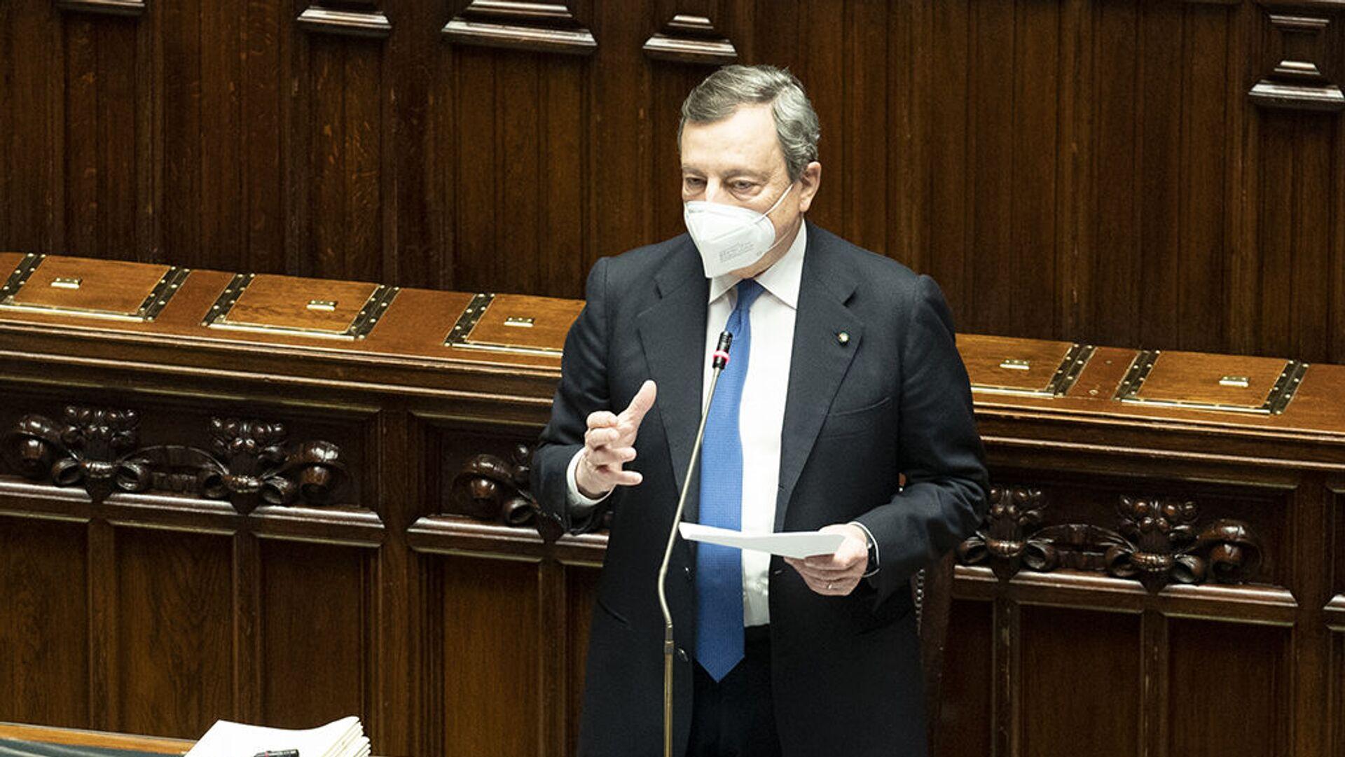 Mario Draghi interviene in parlamento - Sputnik Italia, 1920, 28.07.2021