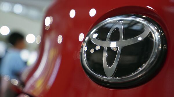 Logo Toyota in una sala espositiva a Tokyo, 2 agosto 2019 - Sputnik Italia