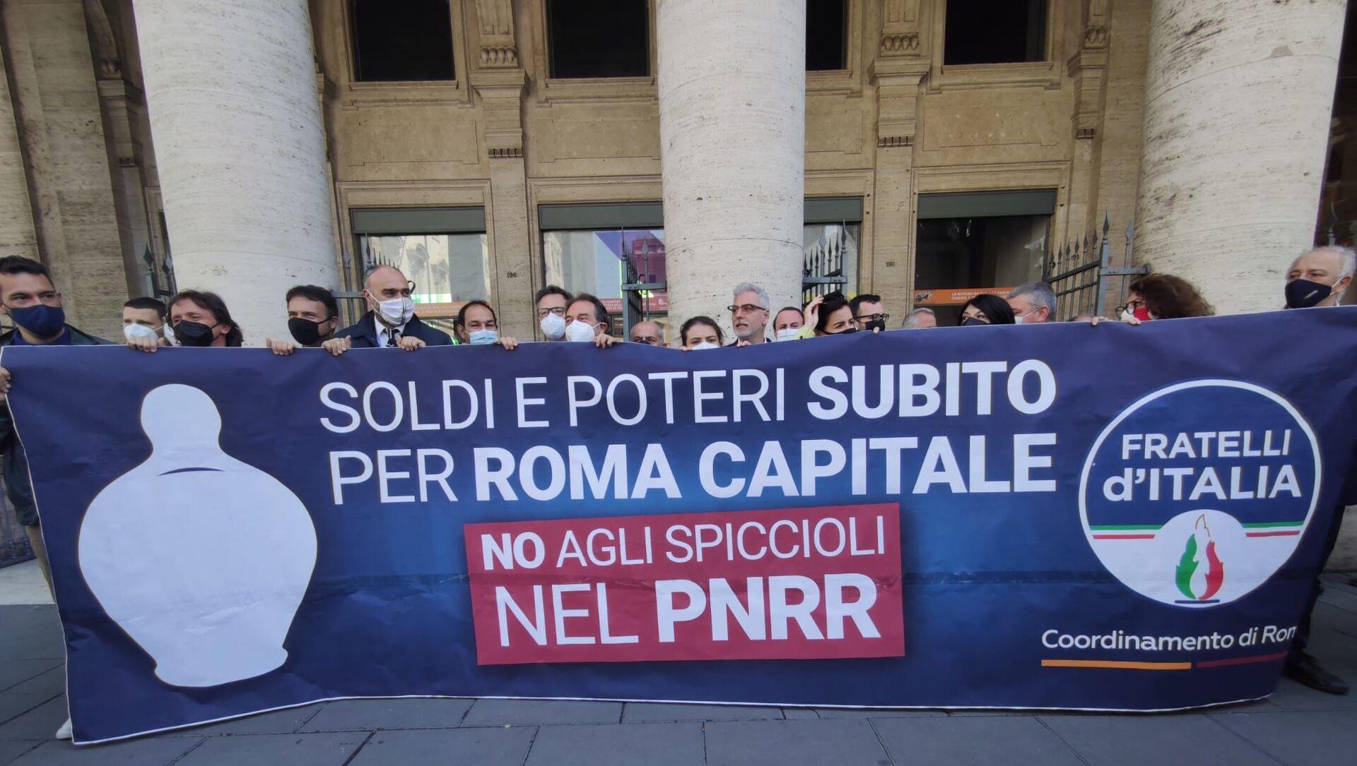 Flash mob FdI Recovery Roma - Sputnik Italia, 1920, 30.04.2021