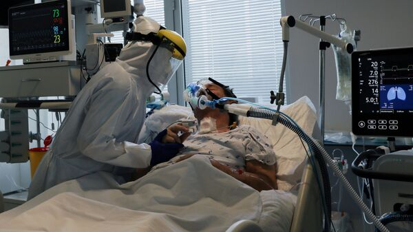 Un ospedale covid in Portogallo - Sputnik Italia