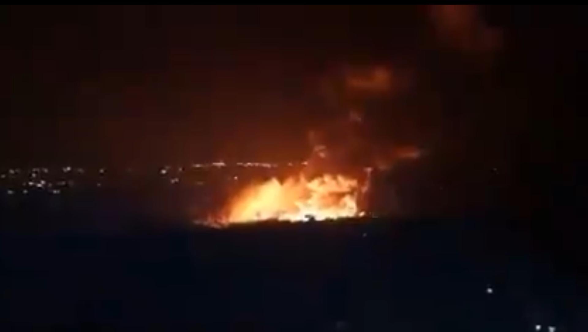 Screenshot del video che presumibilmente mostra le conseguenze di quella che la SANA ha descritto come aggressione israeliana contro la regione di Latakia, 5 maggio 2021 - Sputnik Italia, 1920, 05.05.2021