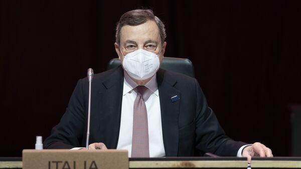 Il Presidente del Consiglio, Mario Draghi, alla Riunione informale dei Capi di Stato e di Governo del Consiglio europeo. - Sputnik Italia