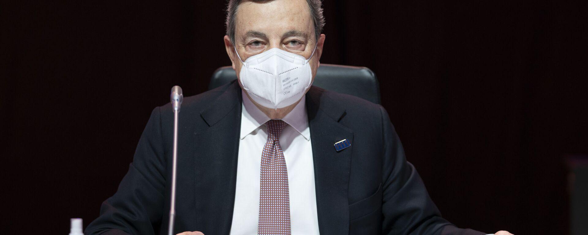 Il Presidente del Consiglio, Mario Draghi, alla Riunione informale dei Capi di Stato e di Governo del Consiglio europeo. - Sputnik Italia, 1920, 23.05.2021