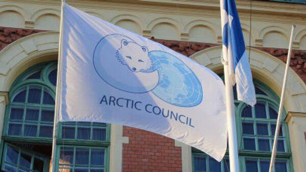Флаг с эмблемой Арктического совета - Sputnik Italia