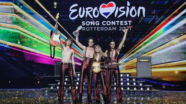 Группа Maneskin (Италия) Виктория Де Анжелис, победившая в финале международного конкурса Евровидение-2021 - Sputnik Italia